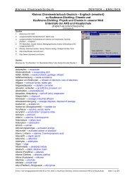 Kleines Chemiewörterbuch Deutsch – Englisch  (erweitert) zu - lernen