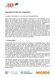 Jahresbericht 2011 des Präsidenten - ALV