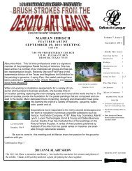 to view the september 2011 newsletter - desoto art league