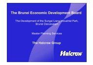 Halcrow Master Planning Services - Bruneiresources.com