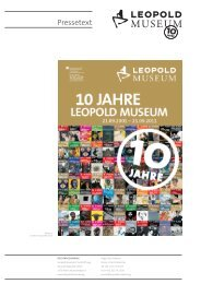 10JahreLM Pressetext.indd - Leopold Museum