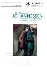 PRESSETEXT Aksel Waldemar Johannessen - Leopold Museum