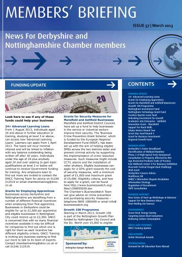 March 2013 - Derbyshire and Nottinghamshire Chamber of Commerce