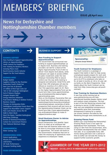 members' briefing - Derbyshire and Nottinghamshire Chamber of ...