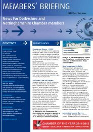 July/August 2012 - Derbyshire and Nottinghamshire Chamber of ...