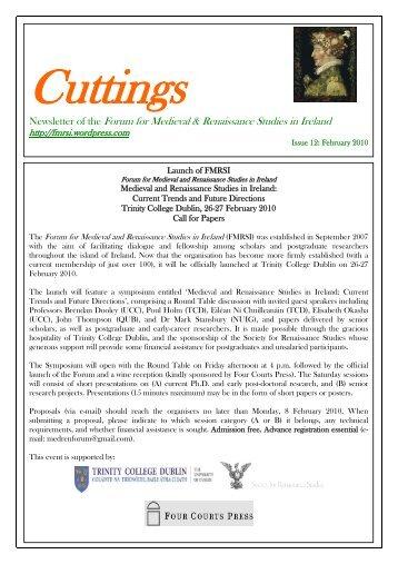 Cuttings 12: February 2010 - FMRSI