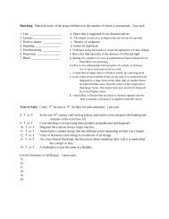 Matching. Match the letter of the proper definition to the number of ...