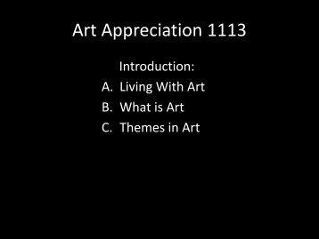 Art Appreciation class 1.pdf - MichaelAldana.com