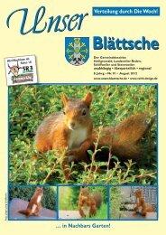 Unser Blättsche · Ausgabe 91· August 2012 - VDesign Agentur für ...
