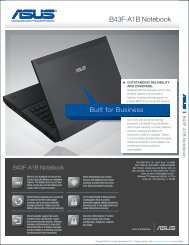 Print Datasheet - Asus Commercial Products