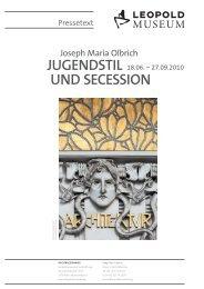 JUGENDSTIL UND SECESSION - Leopold Museum
