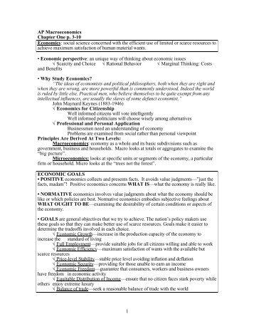 AP Macro Semester Notes