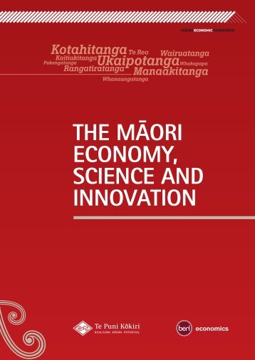 The Māori Economy, Science and Innovation - Te Puni Kokiri