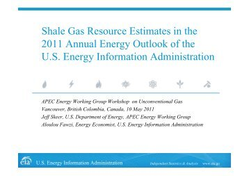 Shale Gas Resource Estimates in the 2011 Annual Energy Outlook ...