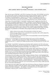 ATTACHMENT D PROGRESS REPORT On APEC EXPERT GROUP ...