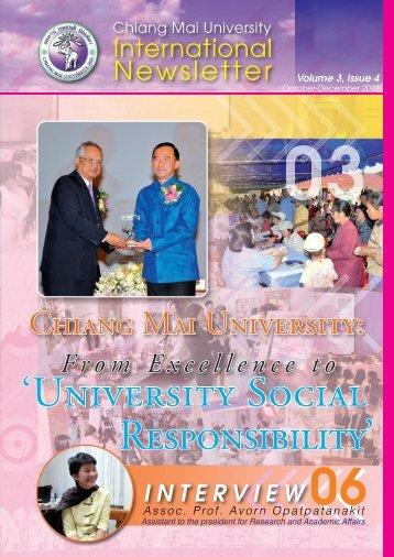 'UNIvERsIty SocIAl REspoNsIbIlIty'