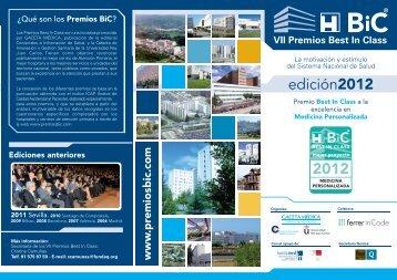 edición2012 2012 - Premios Best in Class