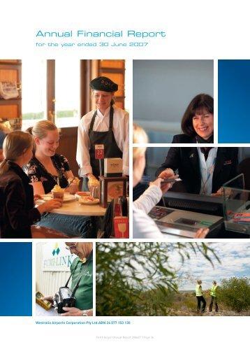 Annual Financial Report - Perth Airport