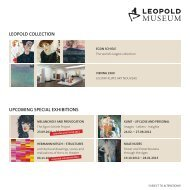 leopold collection upcoming special exhibitions - Leopold Museum