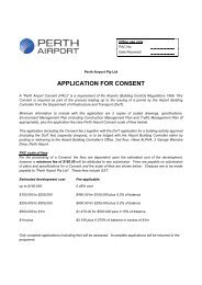 APPLICATION FOR CONSENT - Perth Airport