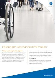Passenger Assistance Information - Perth Airport