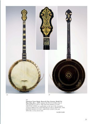 American Tenor Banjo, Bacon & Day, Groton, Model Ne - Skinner