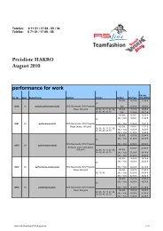 VK-Liste Hakro August 2010 - RS-Line