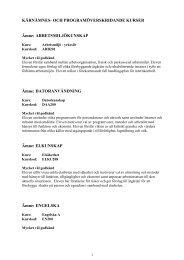 1. Kärnämnes- och programöverskridande kurser - Skolverket
