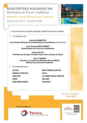 rencontres kazakhstan - Le blog de l'export UBIFRANCE