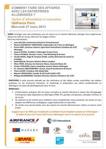 Atelier d'information et rencontres - Le blog de l'export UBIFRANCE