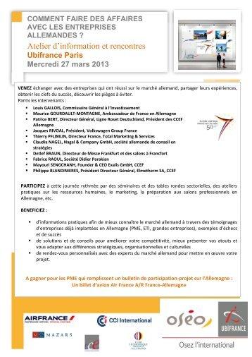 27 mars 2013 - Le blog de l'export UBIFRANCE