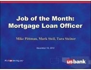 Mortgage Loan Officer - US Bank
