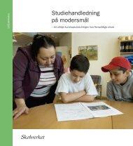 Studiehandledning på modersmål - Tema Modersmål - Skolverket