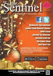 November & December 2012 - Hornsby RSL Club