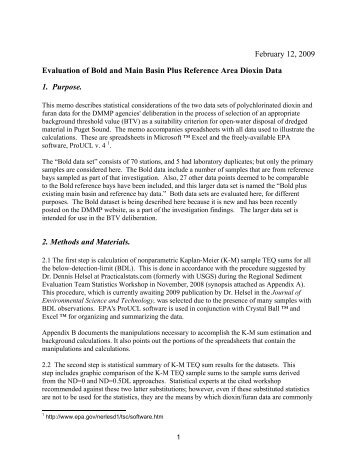Evaluation of Bold and Main Basin Plus Reference ... - Seattle District