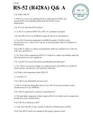 RS Series Applications 2 page leaflet - Refrigerant Solutions