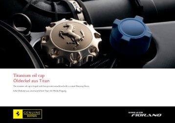 Titanium oil cap Öldeckel aus Titan