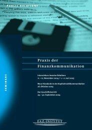 Praxis der Finanzkommunikation - Northoff.Com