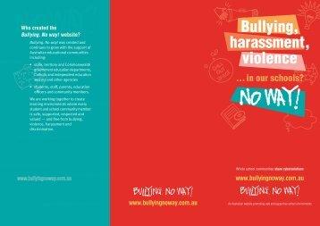 Anti-bullying brochure