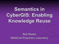 Semantics in CyberGIS: Enabling Knowledge Reuse