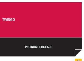 Renault Twingo handleiding (PDF) - Stichting Twingo Club