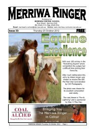 24 Merriwa Ringer Issue 33, 2012 Week 43 [pdf, 2 MB]