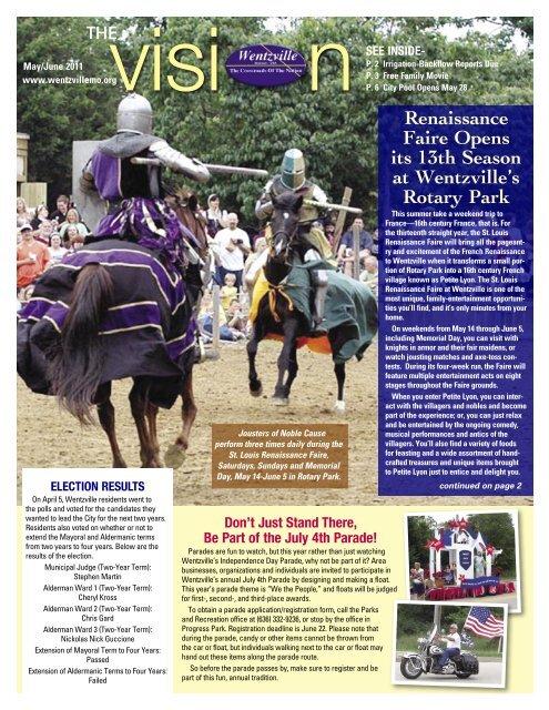 May/June 2011 Newsletter - The City of Wentzville | Missouri