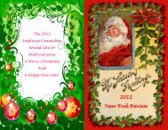 2012 Year End Review - The City of Wentzville   Missouri