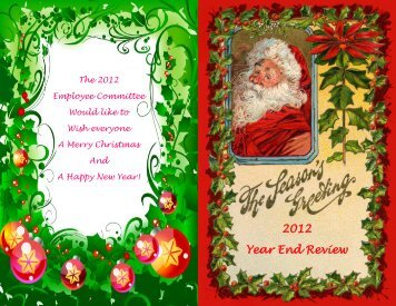 2012 Year End Review - The City of Wentzville | Missouri