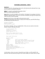 NETWORK LAB MANUAL – PART 2 Exercise 1: