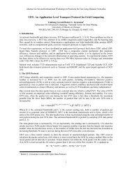 UDT: An Application Level Transport Protocol for Grid Computing ...