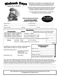 August 26, 27, 28, 2011 BOOTH REGISTRATION & ACTIVITY FORM