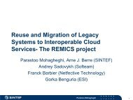 Reuse and Migration of Legacy Systems to Interoperable ... - REMICS
