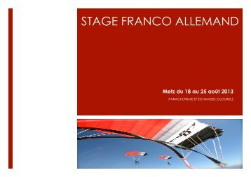 STAGE FRANCO ALLEMAND